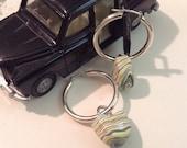 Fordite or Vintage Car Paint Stones dangle from 30mm Sterling silver Hoop Earrings