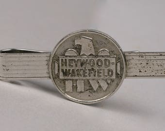 Heywood Wakefield Sterling Tie Clip, Use As A Money Clip, Gardner Mass.  Furniture