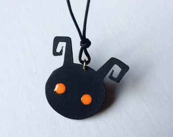 Kingdom Hearts Heartless Necklace with Glow-in-the-Dark Eyes