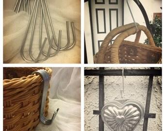 S hooks 5 inch, hooks for hanging baskets, plants, tools, utensils, basket hooks, pot hooks (5 s hooks)