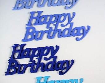 12 Happy Birthday die cuts embelllishments, Card Topper, Decoration