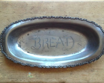 Antique Silver Plated Bread Tray