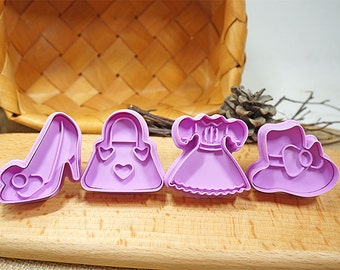 3D Cookie Stamp Cutters/Dress Cookie Stamp/High Heels Cookie Stamp/Handbag Cookie Stamp/Hat Cookie Stamp/Candy Mold/Baking Supply