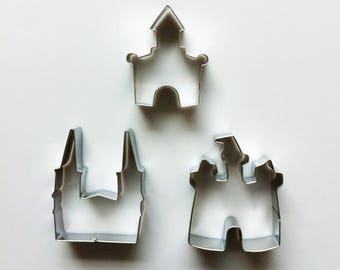 Castle Cookie Cutter Set/Palace Biscuit Cutters/Fairy Tale Cookie Molds/Dough Cutters/Fondant Tools/Baking Supply/Theme Party