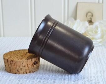 Brown mustard jar, vintage Hoganas stoneware, lidded storage , vintage kitchen storage, coffee mug, Höganäs Sweden