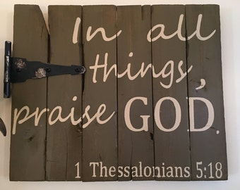 Handmade Bible Verse Wood Sign