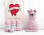 Make Your Own Uni-Cat! Mythical Unicorn Cat Knitting Kit