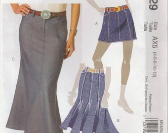 Godet or Mini Skirt Pattern McCalls 5429 Sizes 4 - 12 Uncut