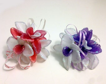 Handmade Nylon Flowers with Pin