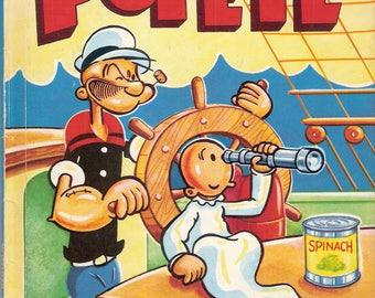 Popeye Vintage Children's Wonder Book Illustrated by Bud Sagendorf