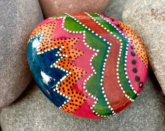 Calliope /painted rocks / painted stones  / under the big top series / rock art / art on stone / paperweights / boho art / hippie art /rocks