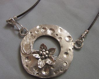 Large Handmade Flower Pendant