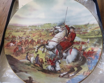 Coalport 'The Battle of Blenheim' limited edition collectors plate