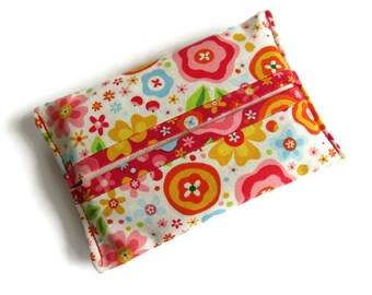 Fabric Paper Hankerchief Holders - Cotton Fabric Cover for Paper Tissues -Kleenex Cover Case