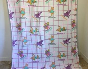 Vintage Bed Sheet, Dinosaurs, Talking Tops, Saurus, Dinosaurus, Vintage Bedding, Cliff Galbraith, Marimac