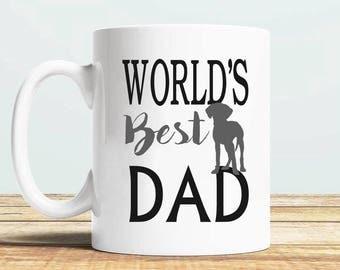 Vizsla Dad Gift, Dad Mug, Fathers Gift, Gift for Dad, Husband Gift, World's Best Dad, Funny Vizsla Mug, Birthday Gift, New Vizsla Dad Mug