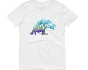 Rhinoceros T-Shirt, Animal T-Shirt, Rhinoceros, Rhinoceros Shirt, Wildlife Shirt, Wildlife T-Shirt, Rhino T-Shirt, Animal T-Shirt, Rhino
