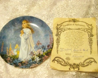 Twinkle, Twinkle, Little Star Collector Plate by Reco
