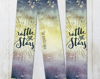 Rattle The Stars ToG Painted Watercolor Bookmark - Throne of Glass Inspired Literary Quote Celaena Aelin Rowan Book Nerd Fandom Fan
