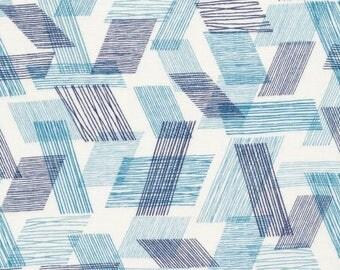 Warp & Weft (Teal) - Double Gauze - Organic Cotton - Threads - Eloise Renouf - Cloud 9 Fabrics - 1 Yard