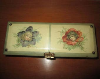 Rare Antique Victorian Celluloid [Brundage Girls] Pencil Set