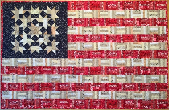 Flag #8 wall quilt