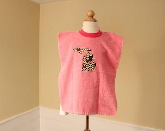 Toddler Towel Bib - Michigan Applique