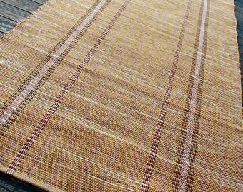 30 x 60 Handwoven gold rug