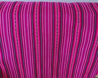 PERUVIAN FABRIC - aguayo Tribal Fabric  - ethnic boho textile - aguayo blanket