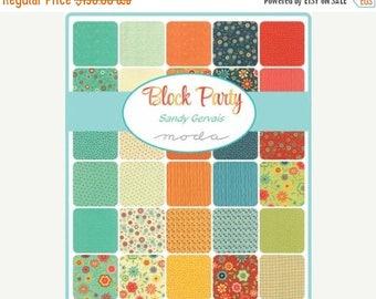 20% Off Sale Block Party Fat Quarter Bundle by Sandy Gervais for Moda - One Fat Quarter Bundle 39 SKUS - 17810AB