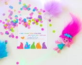 Trolls Inspired Valentines Day Printable