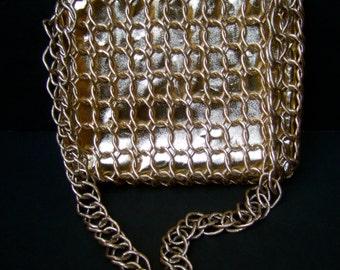 1970s Mod Gilt Chain Link Evening Bag