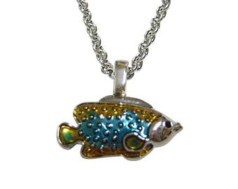 Colorful Tropical Fish Necklace