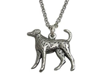 Dalmation Dog Pendant Necklace