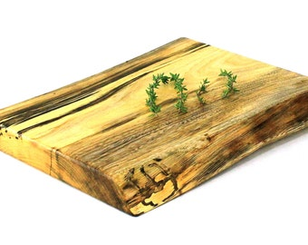 "Natural Edge Wine & Cheese Board - Spalted Silver Maple - Ready to Ship - 10""x8-1/2""x1"""