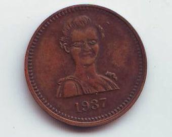 1937 Token Copper 22 mm Special Eyes Unusual