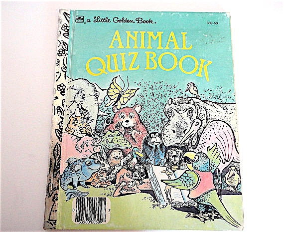 Classic Book Covers Quiz : Vintage little golden book animal quiz