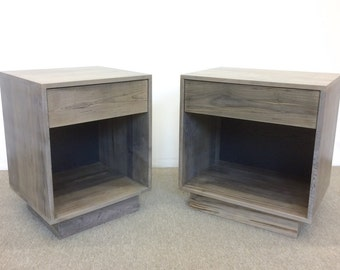 FREE SHIPPING Night Stands Side Tables Oxidized Maple