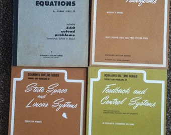 Vintage SCHAUMs Outline SERIES Theory & Problems COLLEGE ALGEBRA Collectible Antique Maths Study
