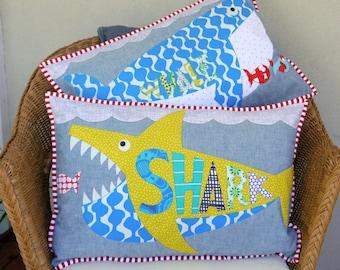 Whale + Shark PDF cushion patterns