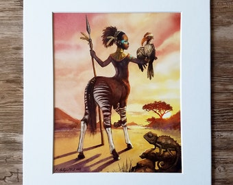 Large Print: The African Unicorn