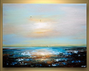 Canvas Art - Stretched, Embellished & Ready-to-Hang Print - Freedom - Art by Osnat