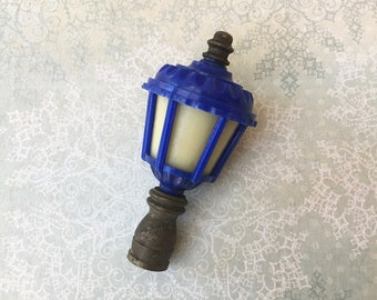 """Pretty and Unusual Vintage """"Lantern"""" Top Lamp Finial"""