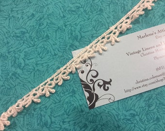 Ivory Venise, 1 yard of 1/2 inch Ivory Venise Lace trim for wedding, bridal, scrapbooking, jewelry, couture by MarlenesAttic - Item 2ZZ