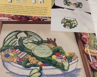 CANDY DRAGON - Cross Stitch Pattern Only