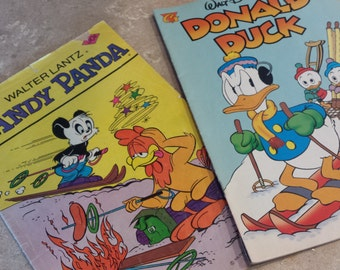 DONALD duck 1997  and ANDY Panda 1977 comic books  both for 10.00