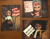 "Blythe Art Photography Print Post Card ""Womens March Series"" Set of 3"
