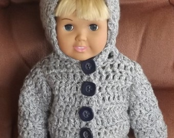 060 Bitty Twins Crocheted Sweater pattern