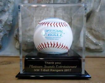 Sponsor Appreciation Gift, Baseball Display Case, Baseball Game Ball Display Case, Baseball Trophy, T-Ball Display Case, Tball