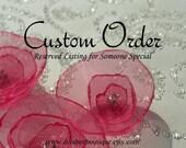 Custom Listing for Saleemah - Porcelain Pink Alligator Hair Clip